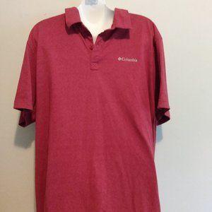 Men's Columbia burgundy shirt size XL